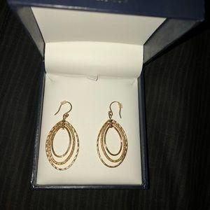 beautiful gold oval earrings